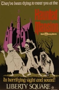`Haunted Mansion Tin Attraction Poster