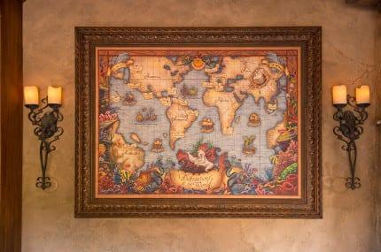 Exploring A Cartographer's Map in Prince Eric's Village, New Fantasyland 1
