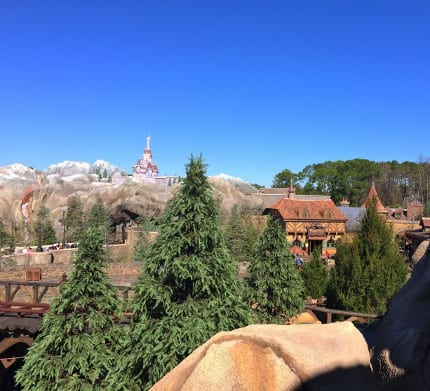 The View From the Top of Seven Dwarfs Mine Train at Magic Kingdom Park 1