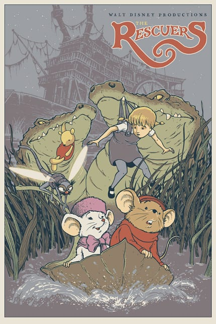 New-Mondo-Disney-Posters-for-Nothings-Impossible-David-Petersen-The-Rescuers