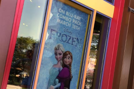 Get Frozen on Blu-ray Combo Pack at Once Upon a Toy in Downtown Disney 1