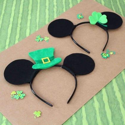 Mickey & Minnie St. Patrick's Day Headbands 1