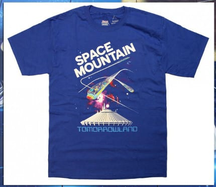 Space Mountain T-Shirts on Disney Parks Online Store March 10-16 1