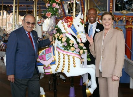 Julie Andrews Receives Special Carousel Horse at Disneyland 7