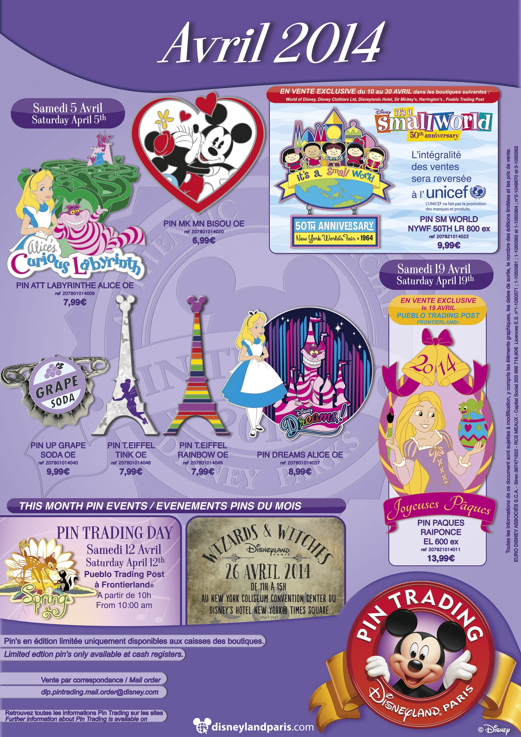 April Paris Pin Release Sheet