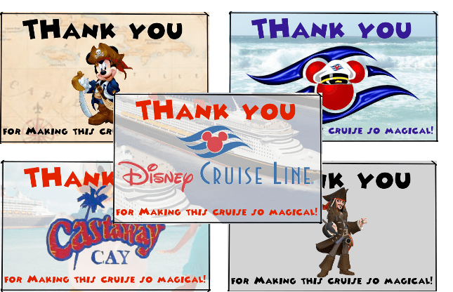 Disney Cruise Line Thank You