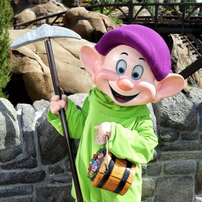 Dopey Stopped By To Visit The Seven Dwarfs Mine Train 1