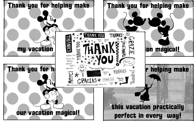 photo about Disney Printable Envelopes referred to as Cost-free Disney Printables! Thank By yourself Envelopes For Your Holiday vacation!
