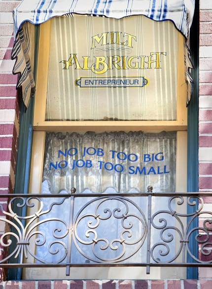 Window on Main Street U.S.A. - Milt Albright 5