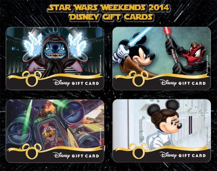 Star Wars Weekends 2014 Disney Gift Cards 13