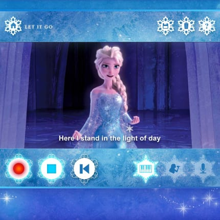 Take Your Frozen Fandom Up a Notch with this Karaoke App 1