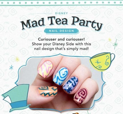 Show Your Disney Side: Mad Tea Party Nail Tutorial 3