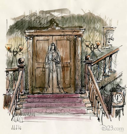 Must-See Haunted Mansion Concept Art Materializes for D23 Disney Fanniversary 2014 3