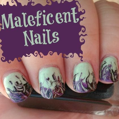 """Maleficent"" Inspired Nail Art! Learn how to do it! 1"
