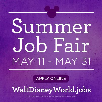 Walt Disney World holding online Job Fair, looking to hire 1200 workers! 1