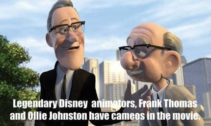 Frank and Ollie, who were part of Walt's Nine Old Men, provided the voices for their characters in the movie.