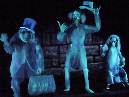 The Hitchhiking Ghosts from the Haunted Mansion at Disneyland and Magic Kingdom.