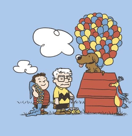 Up / Peanuts Mash-Up Available Today from TeeFury.com 7