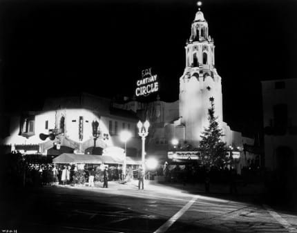 "Hollywood movie palace Carthay Circle Theatre, where ""Snow White and the Seven Dwarfs"" premiered in 1937."