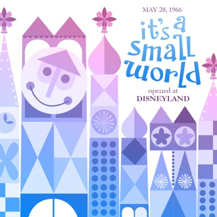 it's a small world opened at Disneyland in 1966