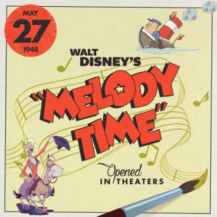 """Walt Disney's """"Melody Time"""" opened in theaters in 1948."""