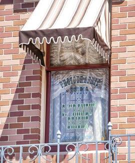 Windows on Main Street, U.S.A., at Disneyland Park: Randy Bright 1