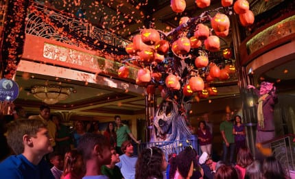 First Look at the New Disney Cruise Line Halloween Pumpkin Trees 1