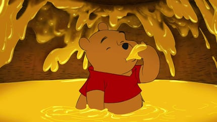 When it comes to rumblies in tumblies, there's no better expert than Winnie the Pooh, so we'll trust his gut on this matter. He's always hungry, which is a quality we admire and relate to. And look how happy Pooh looks! We'd be that happy too if we were in a pool of our favorite food.