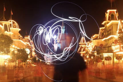 'Light Painting' Once Again Takes Art into Midair Inside Magic Kingdom Park 1