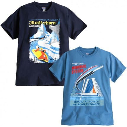 Matterhorn Bobsleds and Monorail Shirts Coming to Disney Parks Online Store Starting August 18 2