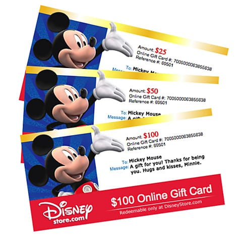 "Disney Fanatic Gifts The ""online Disney Gift Card"""