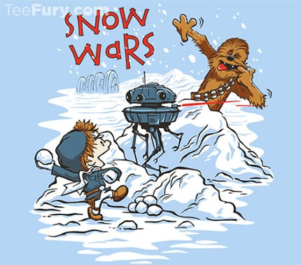 Star Wars / Calvin And Hobbes Mash Up Today At TeeFury.com 2