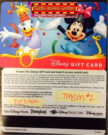 Can I use my Disney Gift Card in the park? 5