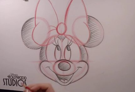 Learn To Draw Minnie Mouse at Disney's Hollywood Studios 3