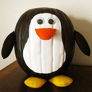 TMSM Pumpkin Art~ Penguin 7