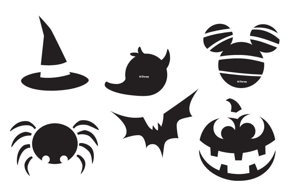 Disney Halloween Treat Bag Stencils - The Main Street Mouse