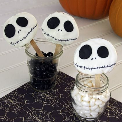 Jack Skellington Cookie Pops ~ Easy Instructions! 4