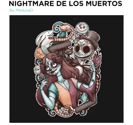 TeeFury Has A Nightmare Before Christmas Inspired Shirt Today!! 5