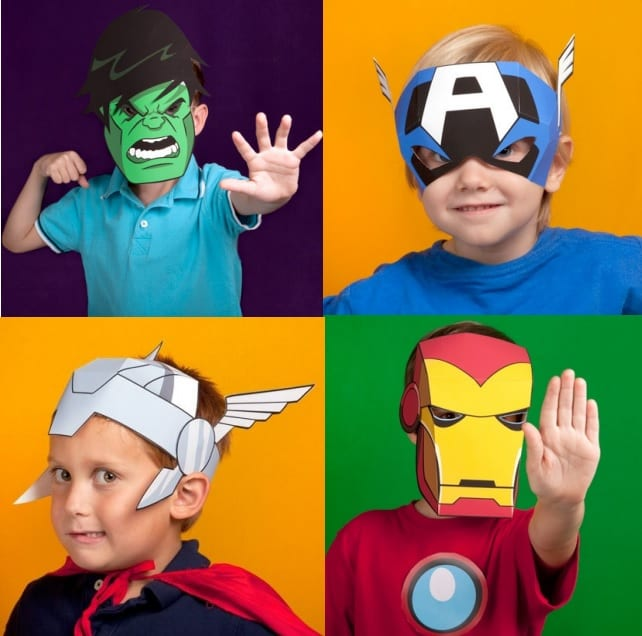 Diy avengers masks for Avengers mask template