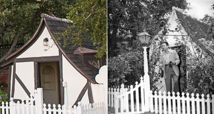 He even built this Snow White Playhouse as a Christmas gift for his daughters.
