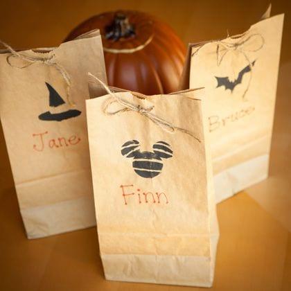 disney halloween treat bag stencils