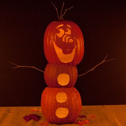 Make Your Own Olaf Pumpkin Directions 1