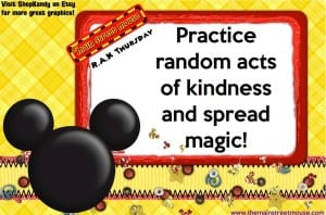 TMSM's Random Acts of Kindness ~ A Cast Member Out of Breath 1