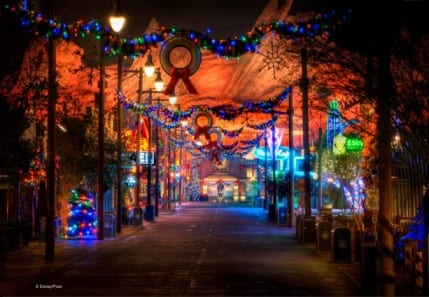 Holidays Shine Bright in Cars Land at Disney California Adventure Park 4