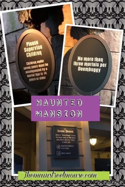 New Signs up at the Haunted Mansion, WDW 11
