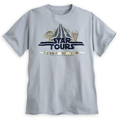 The Disney Store Releases Limited Availability Star Tours 25th Anniversary Tee 2