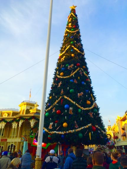 Watch Holiday Services Install & Unveil The Magic Kingdom Park Christmas Tree 1