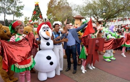 Behind the Scenes at Disney Parks Frozen Christmas Celebration 2