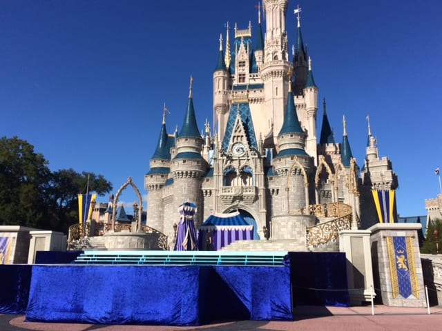 The Magic Kingdom is Getting Ready for the Christmas Parade Taping! 3