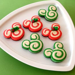 Mickey and Minnie Christmas Swirl Cookies 9